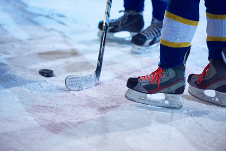 ice hockey sport players comptetition concpet Banco de Imagens