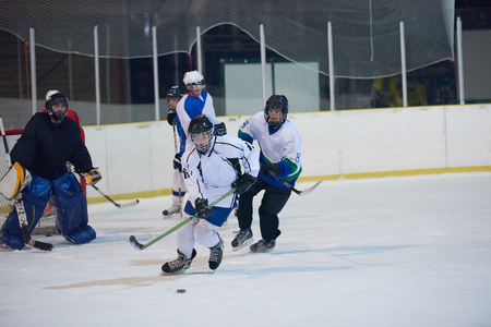 concpet: ice hockey sport players in action, business comptetition concpet