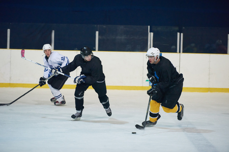 hockey rink: ice hockey sport players in action, business comptetition concpet