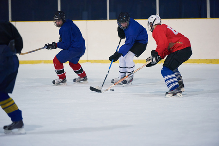 hockey: ice hockey sport players in action, business comptetition concpet