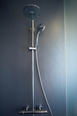 modern bathroom: hotel room modern bathroom Stock Photo