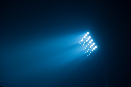 soccer stadium lights reflectors against black background Reklamní fotografie - 48726465