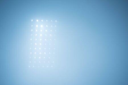 reflectors: soccer stadium lights reflectors against black background