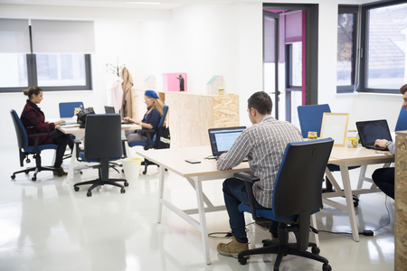 people office: startup business people group working everyday job  at modern office