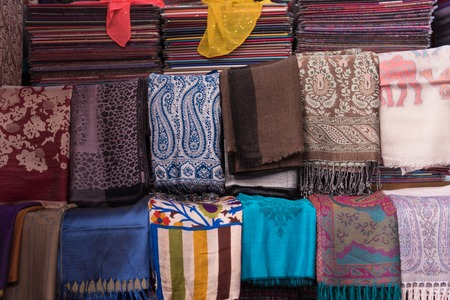 multicolored textile on the marketplace