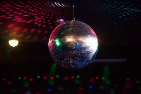 Discobal lichtreflectie achtergrond Stockfoto