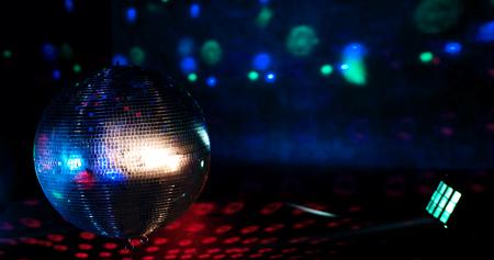 Disco ball light reflection background Stock Photo