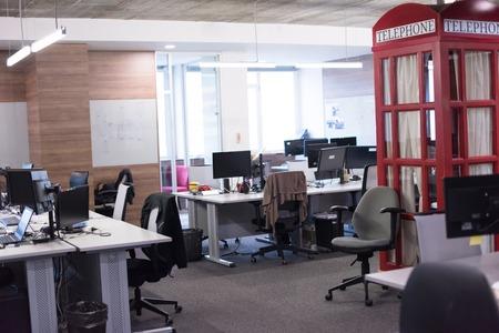 Empty Modern Open Plan Office Banco de Imagens