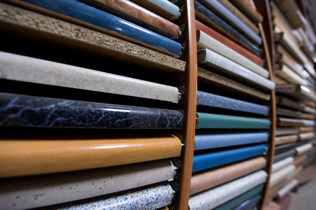 samples in Manufacture of wooden furniture Stock Photo