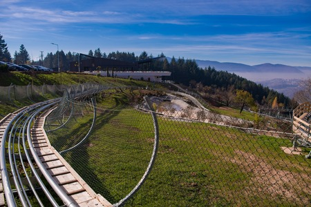 Alpine coaster in beautiful nature Banque d'images