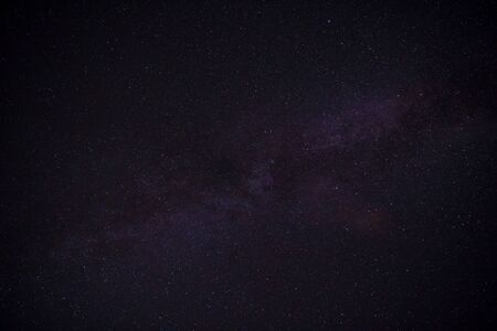 Clearly milky way on night sky Stock Photo