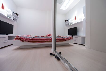 Luxury Interior design in modern bedroom  stylish bedroom for modern life style Imagens