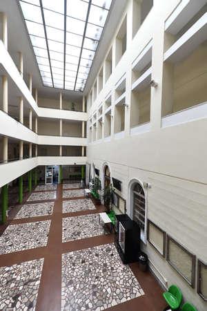 empty university collage school lobby back to school in coronavirus time 写真素材