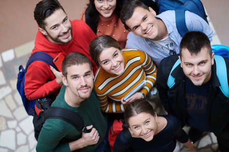 students in school together in problem