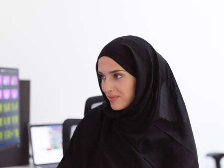Portrait of young muslim female graphic designer
