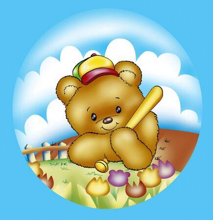 baseball bear photo