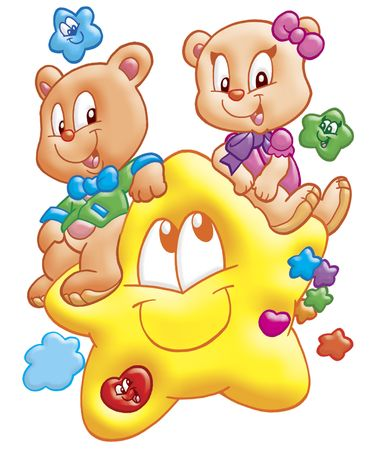 cartoon star: bears and stars