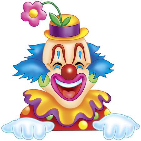 felice clown Archivio Fotografico