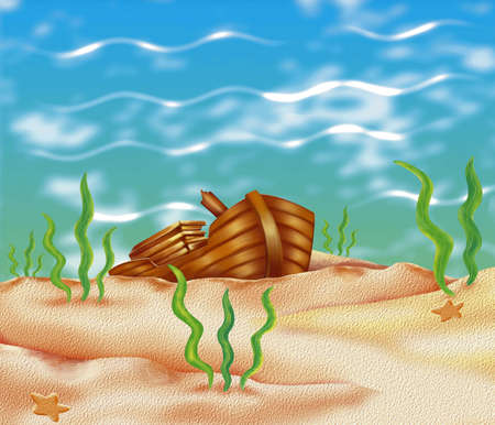 sunk: underwater