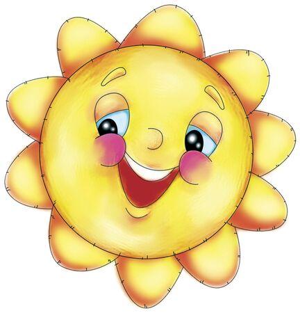 soleil rigolo: fun dimanche Banque d'images