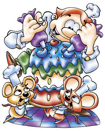 decorator: cake decorator Stock Photo
