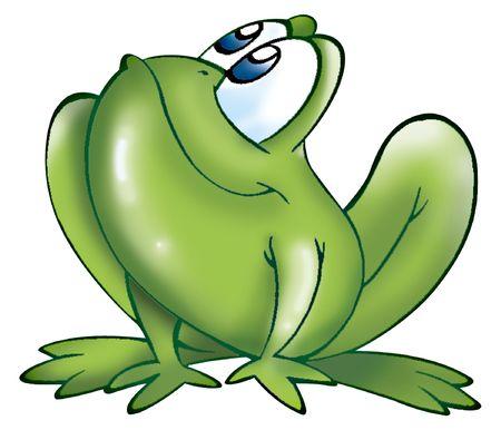 caricaturas de animales: divertida rana