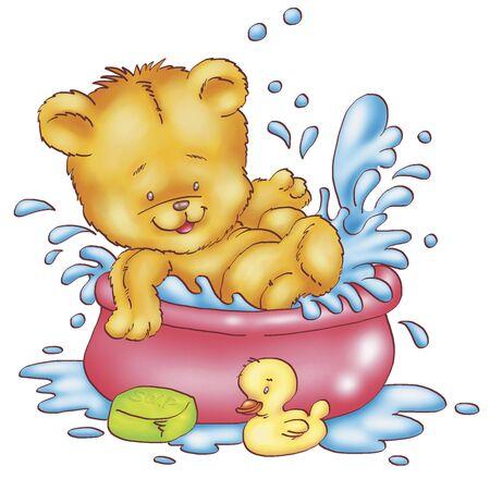 caricaturas de animales: feliz oso