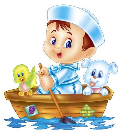 barco caricatura: marina