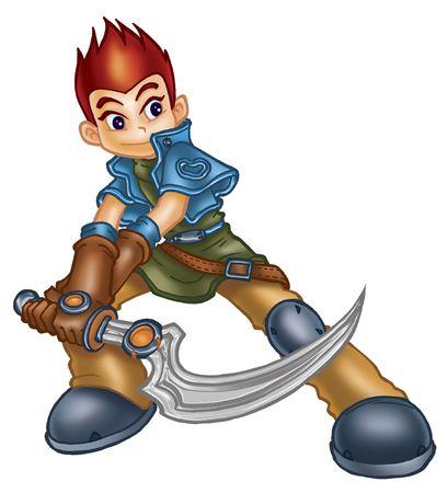 niño guerrero Foto de archivo - 3996923