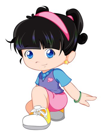cute cartoons: cute child Stock Photo