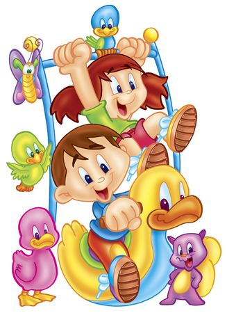 cartoons: Kinder spielen