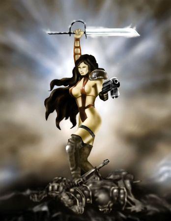sexy warrior Stock Photo