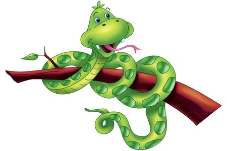 caricaturas de animales: serpiente cute