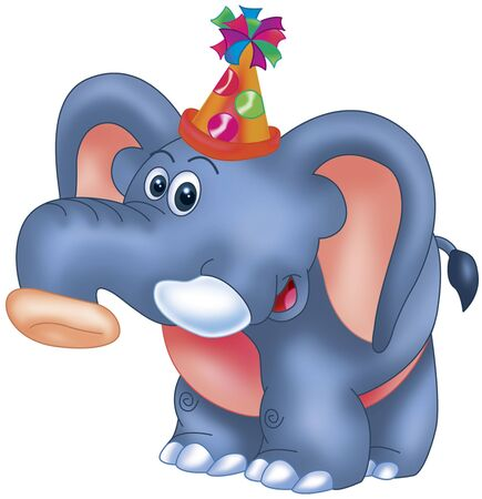 party elephant Stock Photo