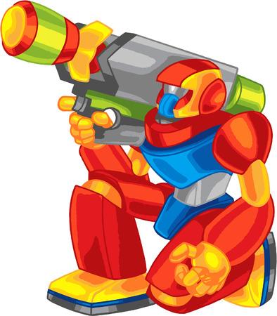 colorful robot Çizim