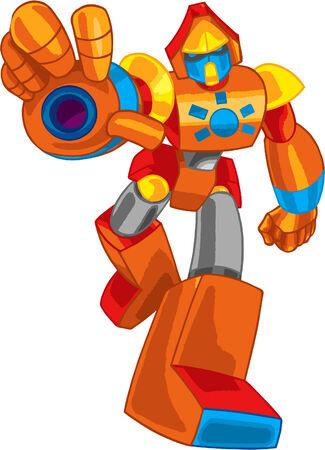 robot colorato Vettoriali