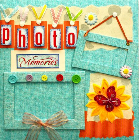 scrapbook cover design Stock Photo - 7520182