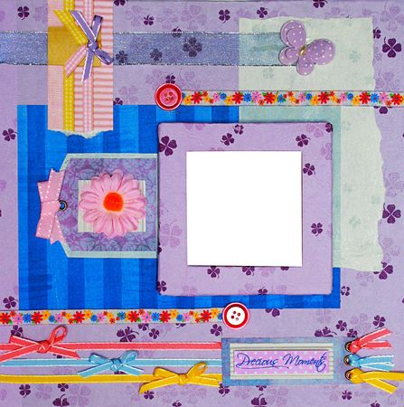a hand crafted scrapbook frame