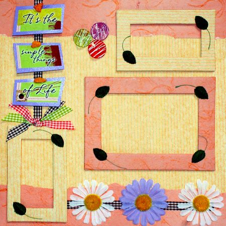 scrapbook cover: dise�o de la portada de �lbum de recortes  Foto de archivo