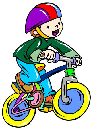 bicycle rider Stock Vector - 9413848