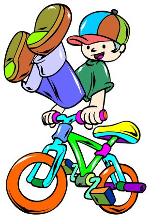 bicycle rider Stock Vector - 9413851
