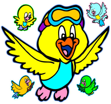 cute birds Stock Vector - 9860877
