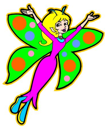 colorful pretty fairy Illustration