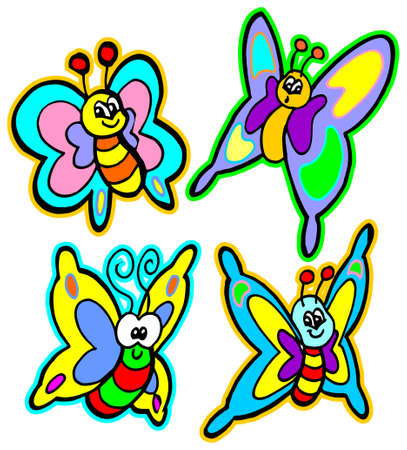 colorful butterflies Stock Vector - 9860882