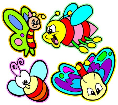 colorful butterflies Stock Vector - 9860878