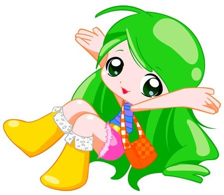 colorful girl Stok Fotoğraf
