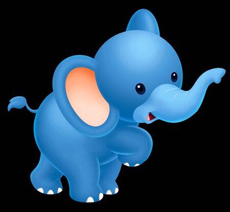 caricaturas de animales: lindo bebé elefante