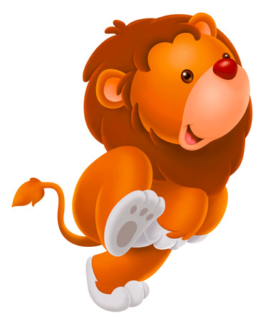 cartoons animals: cute baby lion Stock Photo