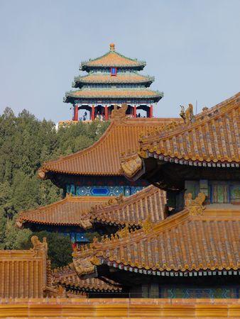 Gebäude in der verbotenen Stadt Beijing China Standard-Bild - 5958800