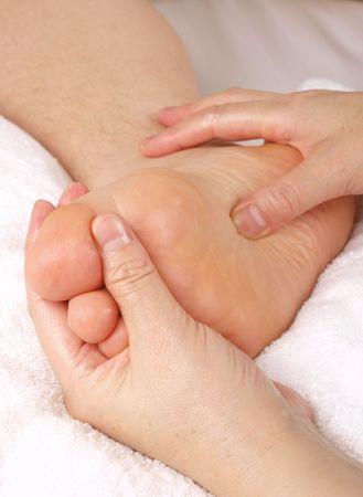 Frau Hände geben Zone-Therapie. Close up  Standard-Bild - 6010176